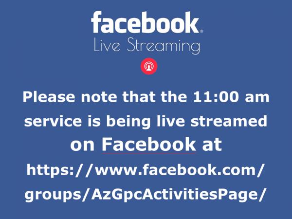 FB LiveStreaming 11am